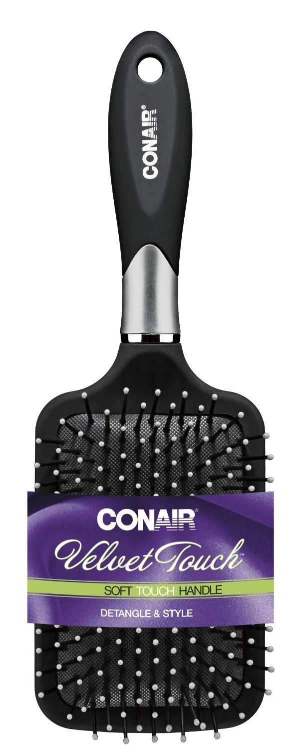 best hair brush 2016 conair velvet touch paddle brush