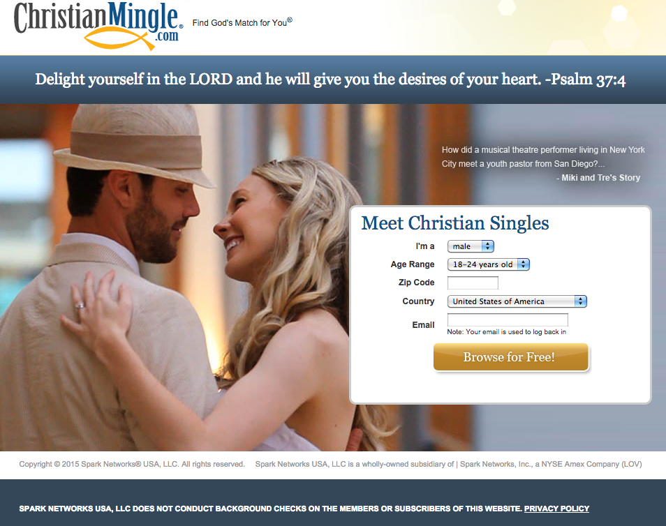 Site for online dating